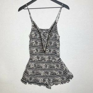 American Eagle Outfitters Romper Black White